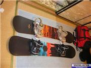 my boards (Arbor Mystic 150 with burton cartel bindings and and old Rossignol Aleksi Litovaara with Flow MK 110 bindings), uploaded by 3da5snow