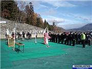 The prayer for snow in Hakuba at the Olympic Jump November 23rd. A beautiful day warm in the AM and got darn chilly just after the priest finished off. Go figure!, uploaded by HakubaNow