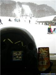 Background:  #1 Quad and Center 33 course.\r\nForeground:  SJ sticker, and string cheese.\r\n, uploaded by Metabo Oyaji  [Grandeco Snow Resort, Kita Shiobara Village, Fukushima]