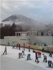 Fuji-san puts in an appearance., uploaded by Mick Rich  [Snow Town Yeti, Susono City, Shizuoka]