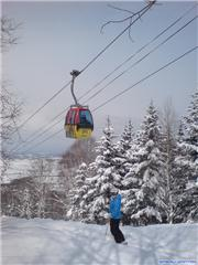 Under-the-Gondola run!, uploaded by Mick Rich  [Kamui Ski Links, Asahikawa City, Hokkaido]