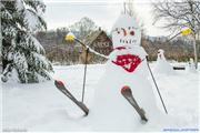 Kye's snowman, uploaded by Mike Pow  [Niseko Village Ski Resort, Niseko Town, Hokkaido]
