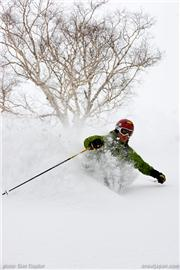 Mike Richards. Glen Claydon photo, uploaded by Mike Pow  [Niseko Moiwa Ski Resort, Niseko Town, Hokkaido]