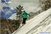 Ian MacKenzie skiing Spring powder, uploaded by Mike Pow  [Kiroro, Akaigawa Village, Hokkaido]