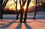 Sunset on a snowmobile trail, uploaded by Minakami photos  [Minakami Kogen Ski Resort, Minakami Town, Gunma]