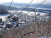 Hikage Chair looking back at the Village, uploaded by NozawaNow  [Nozawa Onsen, Nozawa Onsen Village, Nagano]