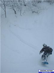 26th Jan, Mark landing, uploaded by slow  [Hakuba Happo-one, Hakuba Village, Nagano]
