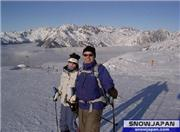 Alpe d-huez Jan '04 with sister, uploaded by threep